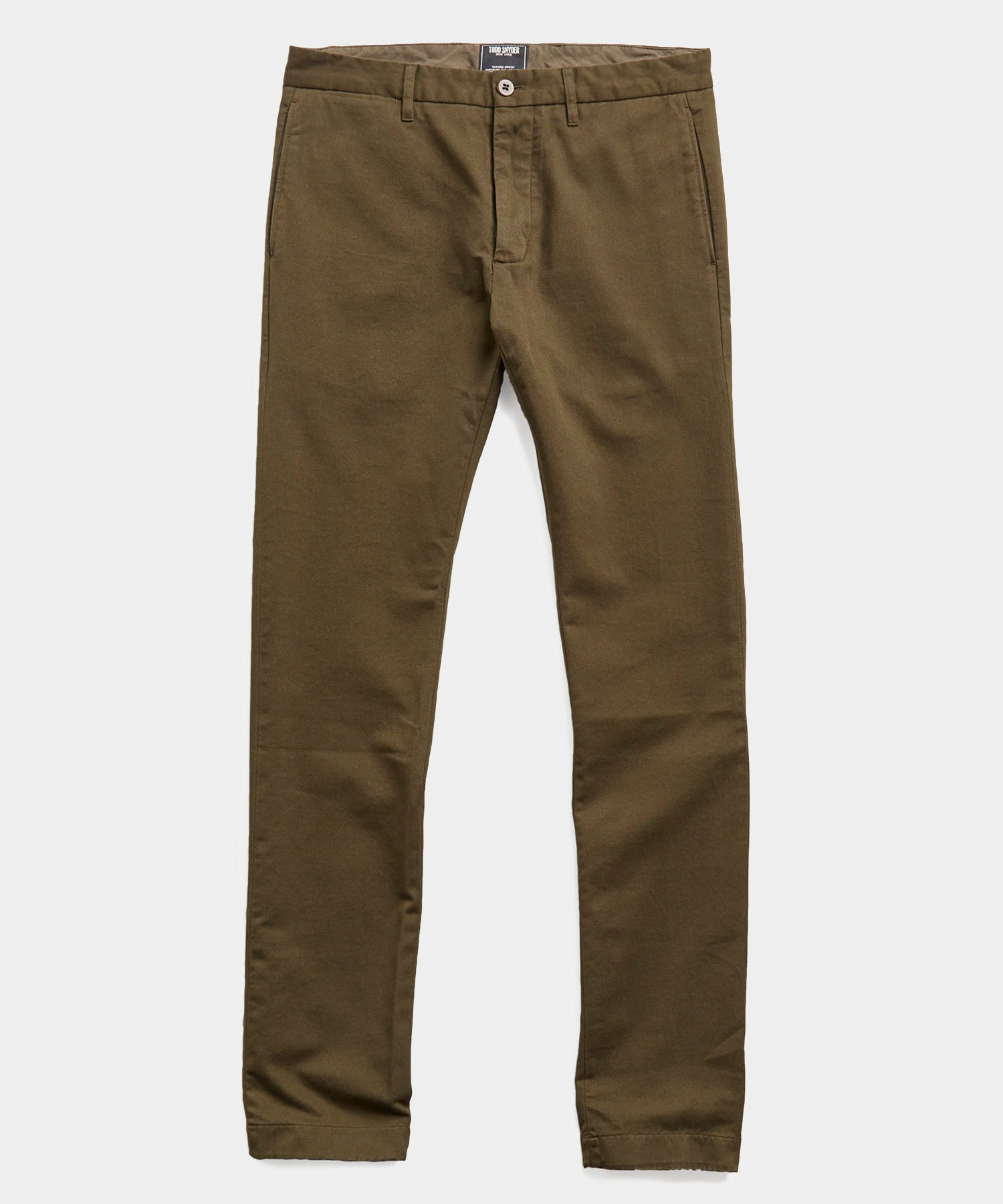 Japanese Garment Dyed Selvedge Chino in Peat