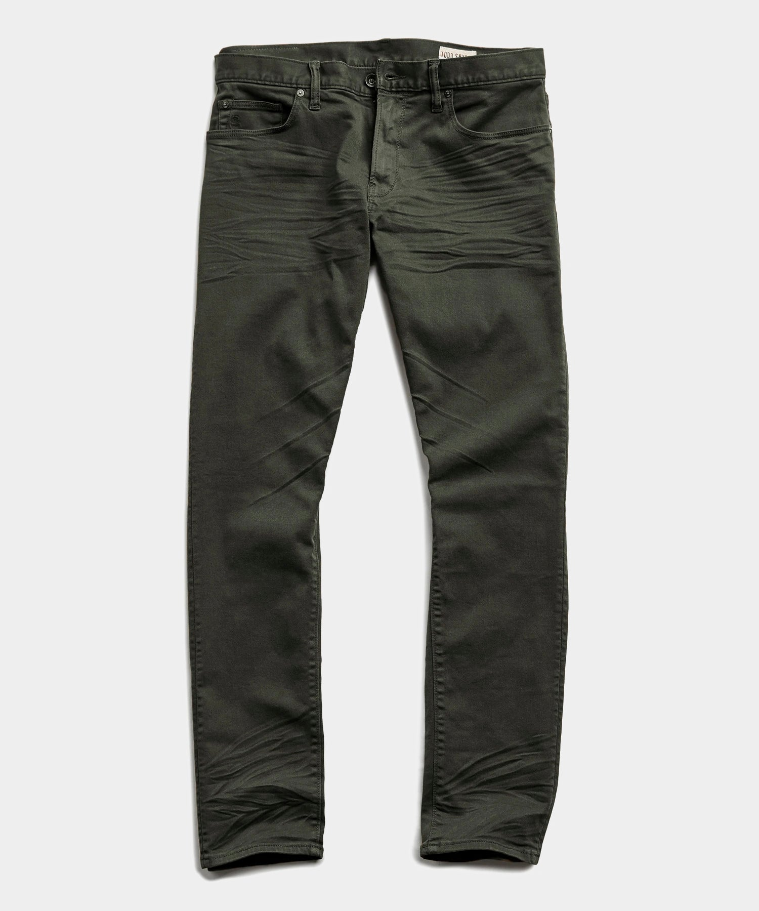 Slim Fit 5-Pocket Garment-Dyed Stretch Twill in Peat