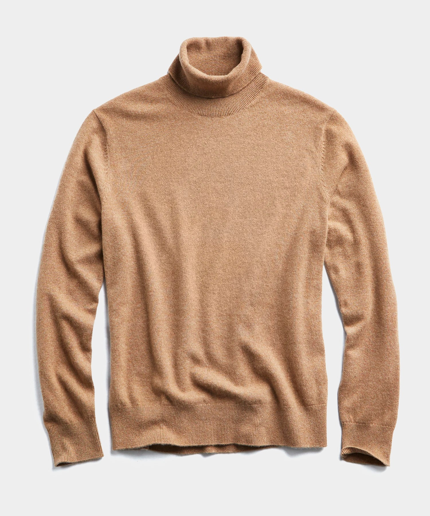 Cashmere Turtleneck in Camel