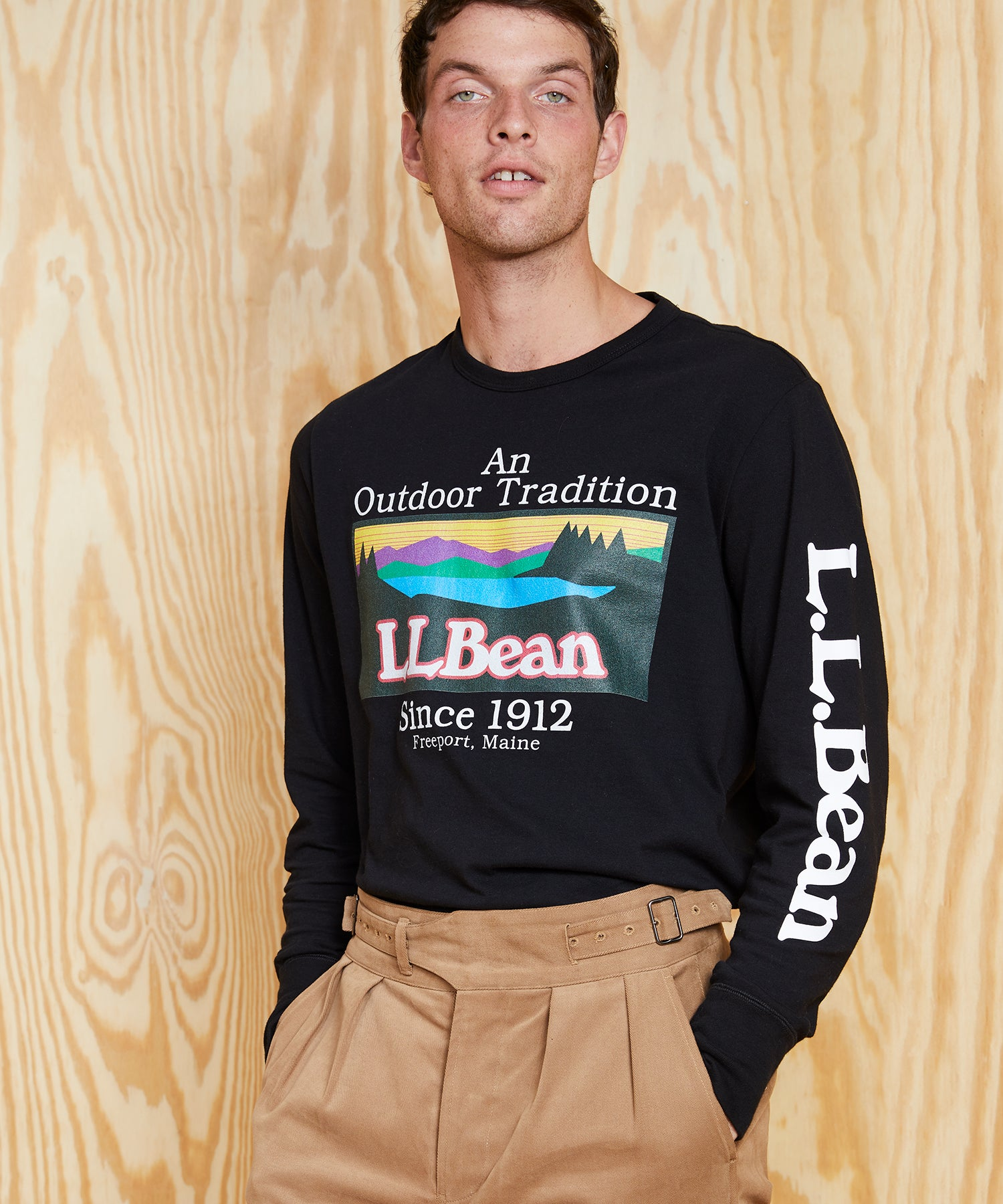 L.L.Bean x Todd Snyder LS Graphic T-Shirt in Black