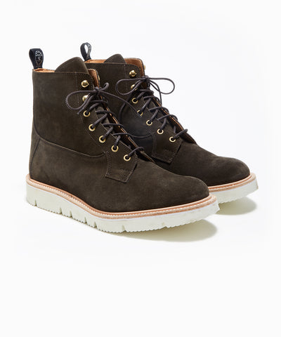 Todd Snyder x Tricker's Burford Boot in Earth Repello Suede