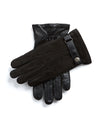 Dents Marlborough Wool Lined Nubuck & Leather Gloves in Black