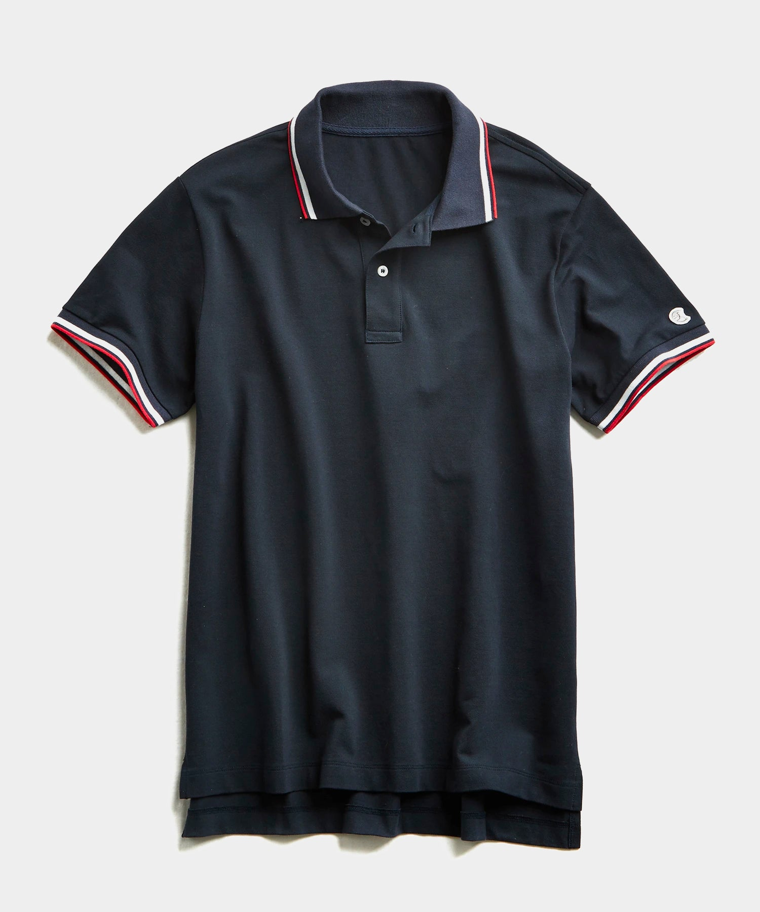 Tipped Pique Polo in Navy