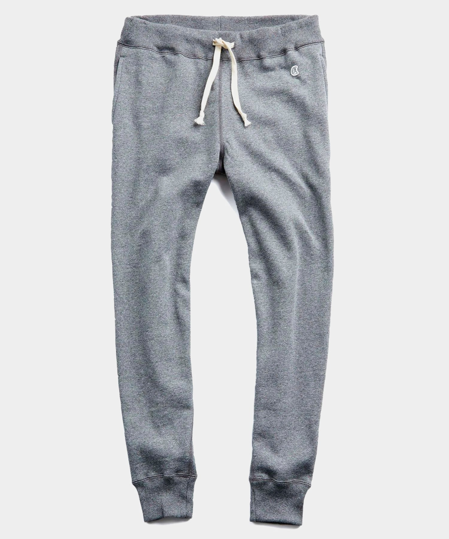 Heavyweight Slim Jogger Sweatpant in Salt and Pepper
