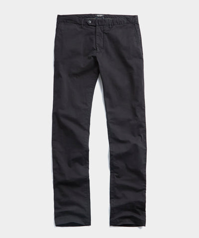 Slim Fit Tab Front Stretch Chino in Black