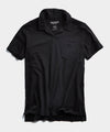 Made in L.A. Homespun Slub Montauk Polo in Black
