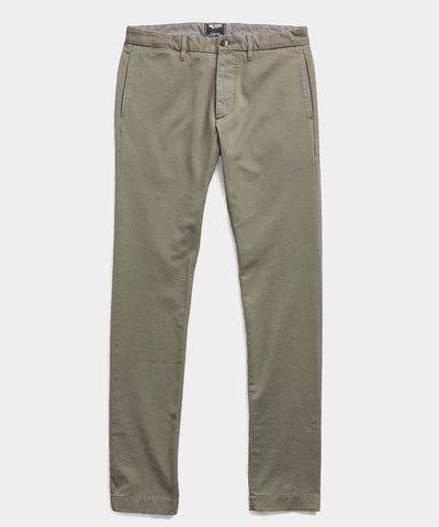 Japanese Garment Dyed Selvedge Chino in Flagstone
