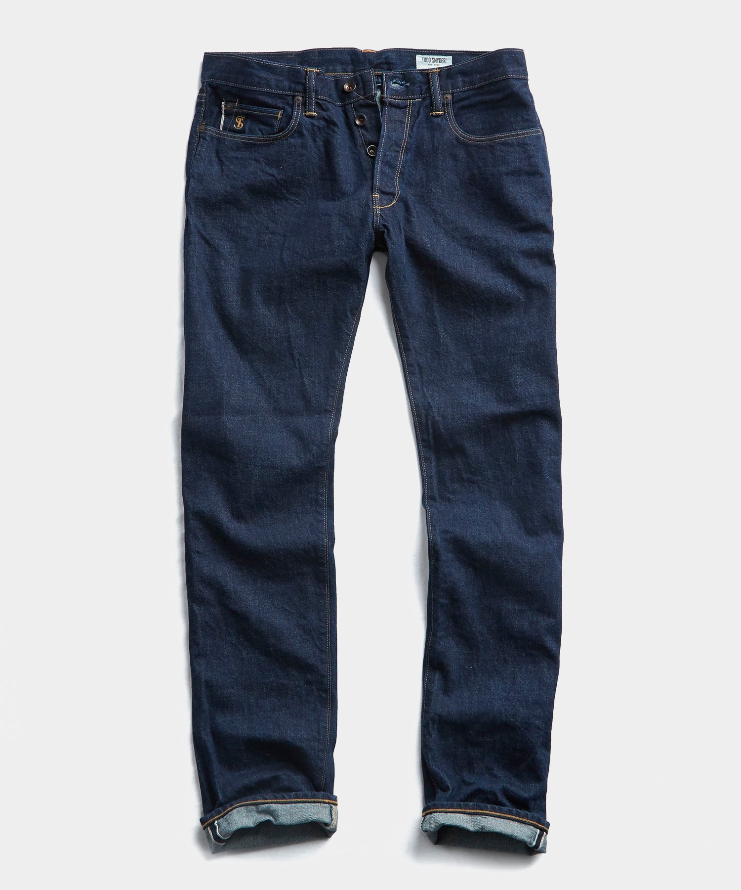 Slim Fit Japanese Stretch Selvedge Jean in Indigo Rinse