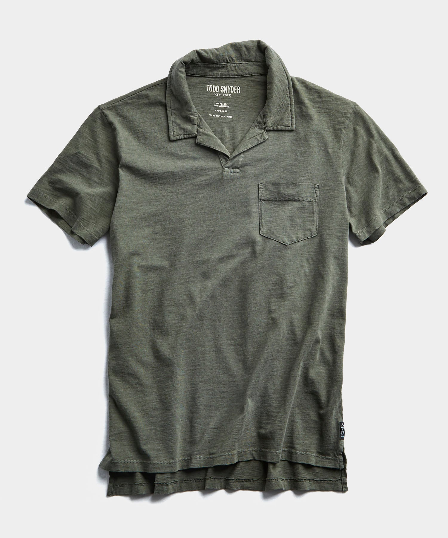 Made in L.A. Slub Jersey Montauk Polo in Olive