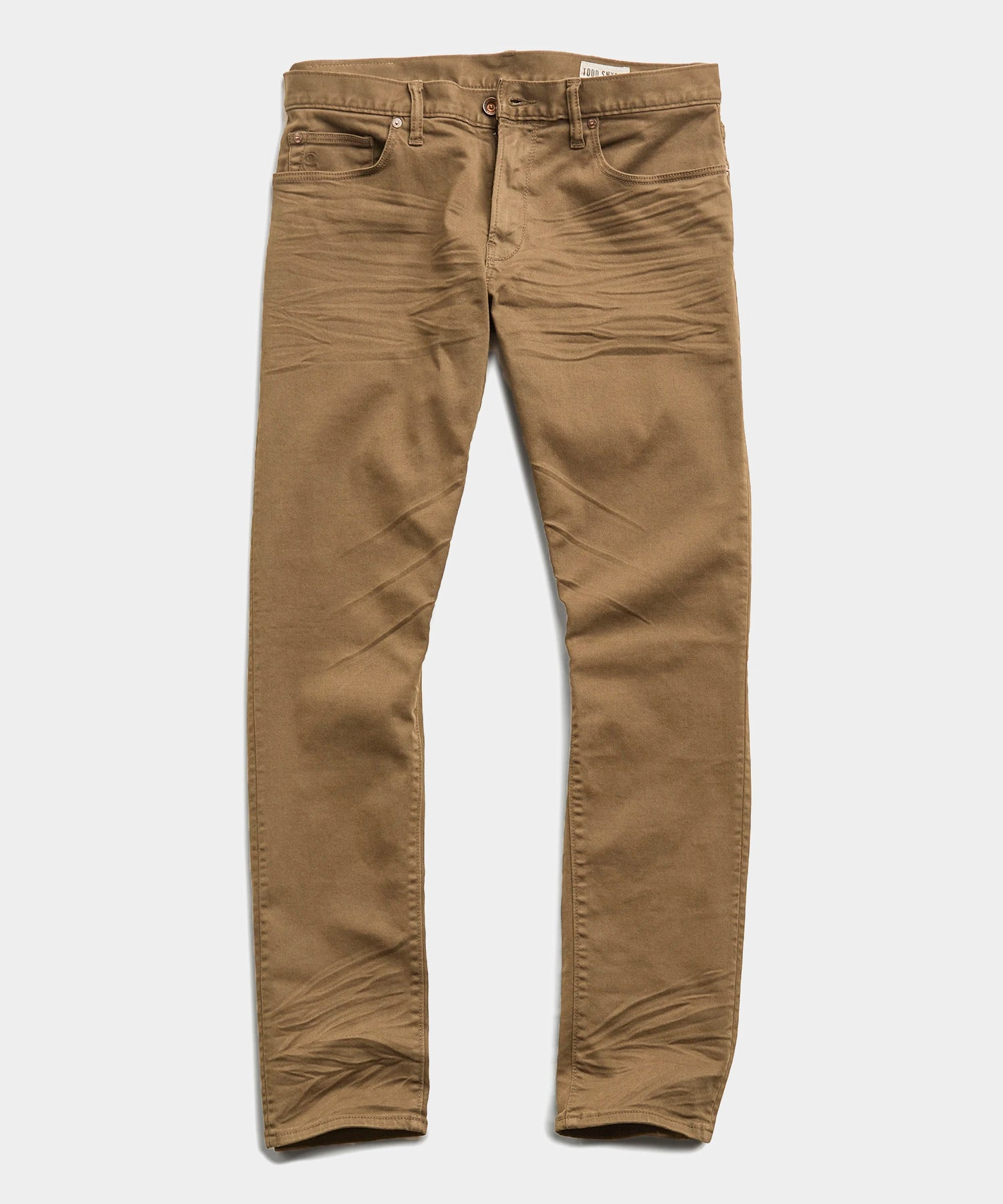 Slim Fit 5-Pocket Garment-Dyed Stretch Twill in Khaki