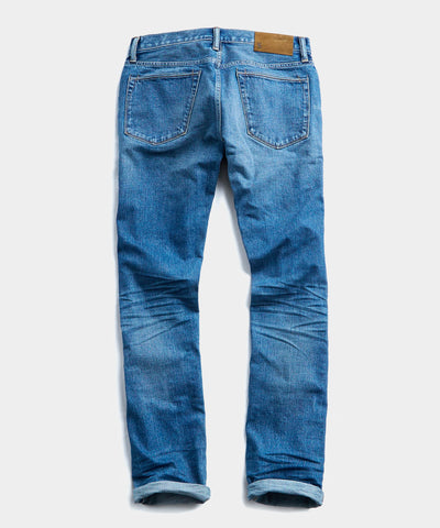 Slim Fit Japanese Stretch Selvedge Jean in Medium Wash