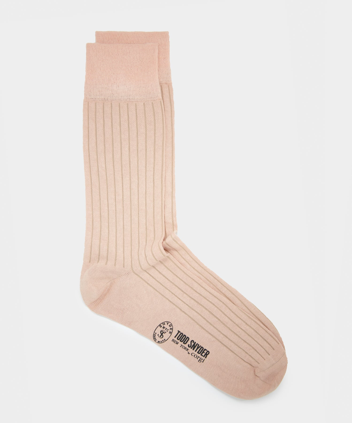 Corgi Plain Sock in Terracotta