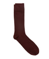 Corgi Solid Burgundy Dress Socks