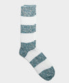Corgi Dual Color Stripe Sock in Blue Mix