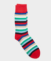 Corgi Multistripe Sock Red in Red