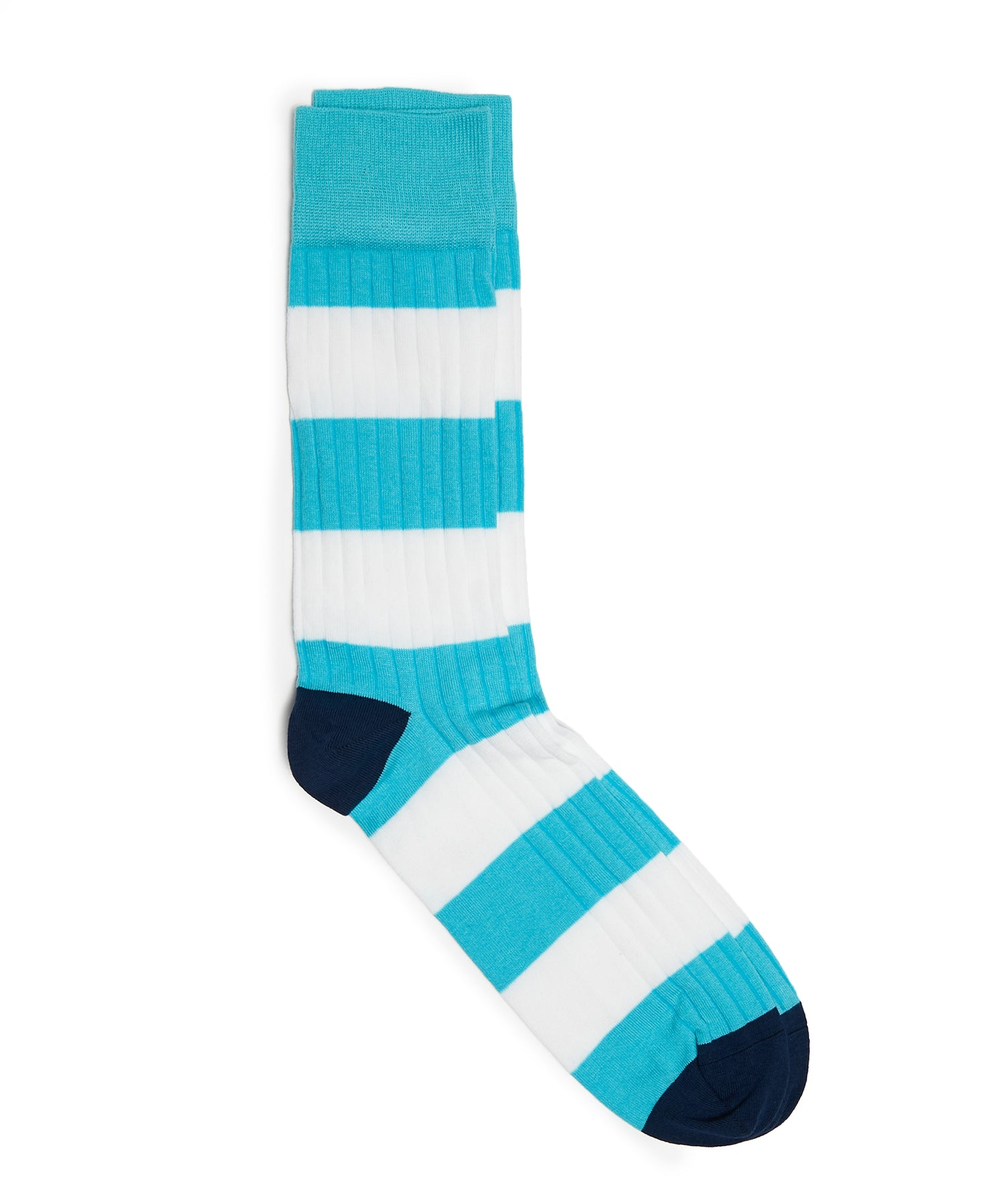 Corgi Rugby Cotton Sock in Turquoise