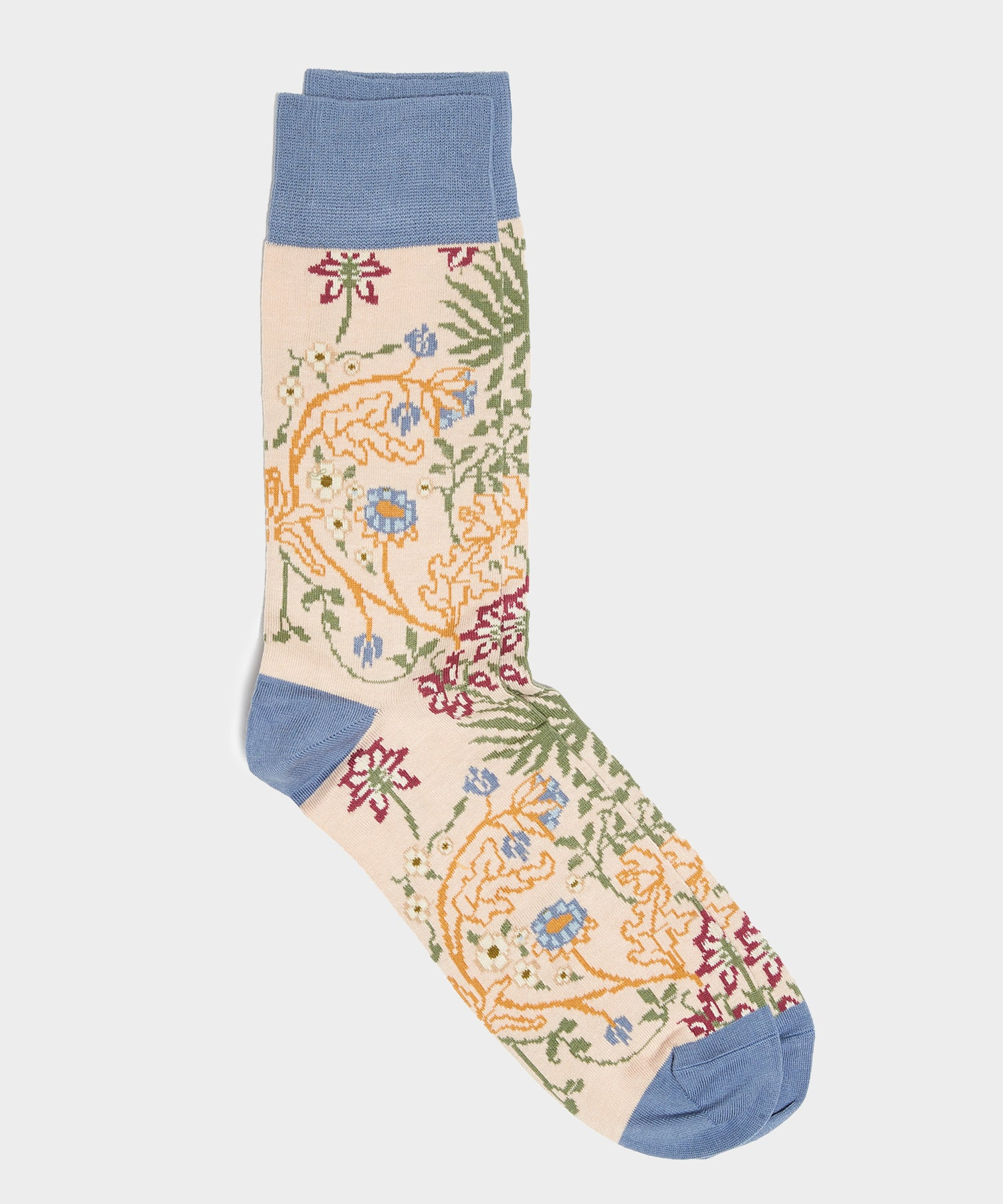 Corgi Floral Socks in Cream