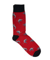 Corgi Shark Cotton Blend Socks in Red