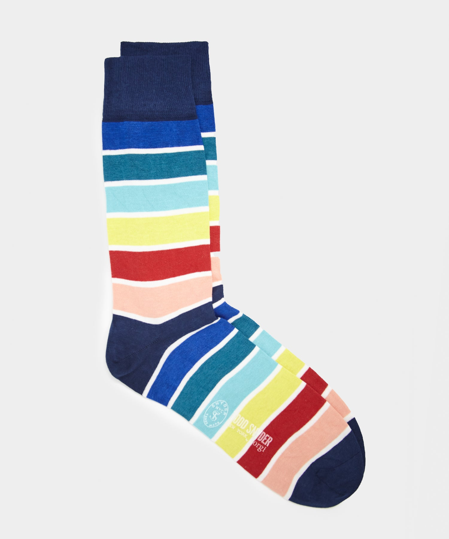 Corgi Multi Stripe Sock in Yale