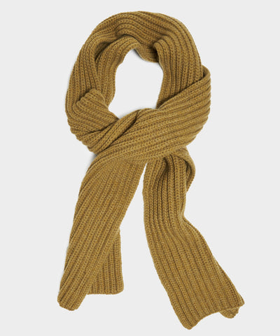 Corgi Wool Cashmere Ribbed Scar in Military Green