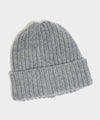Corgi Wool/Cashmere Ribbed Beanie in Flannel Grey