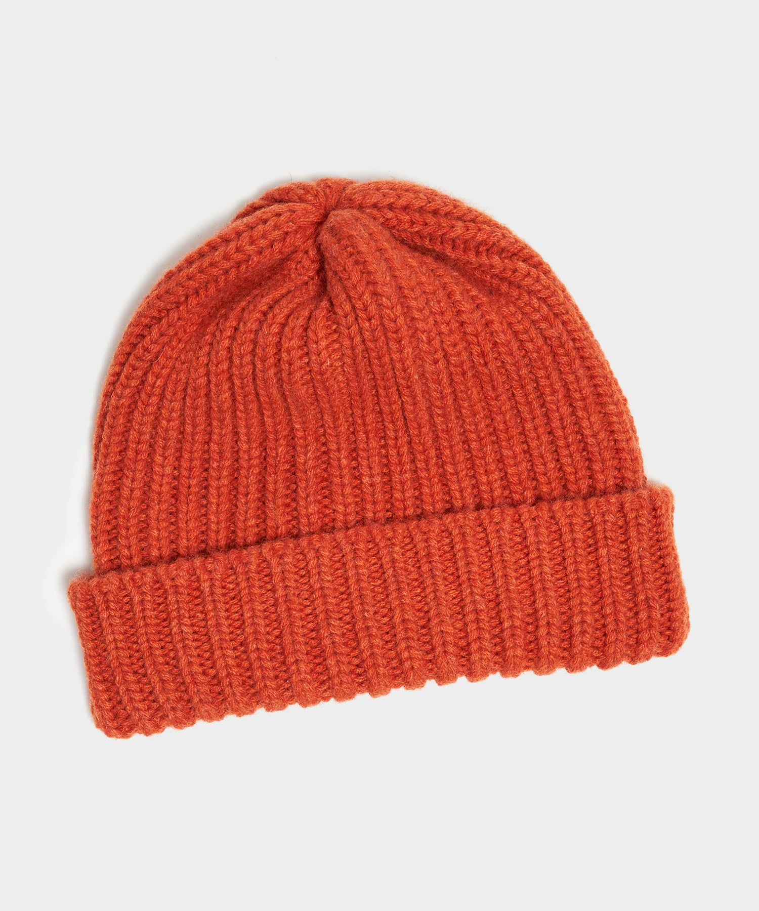 Corgi Wool/Cashmere Ribbed Hat in Furnace