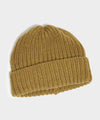 Corgi Wool/Cashmere Ribbed Beanie in Military Green