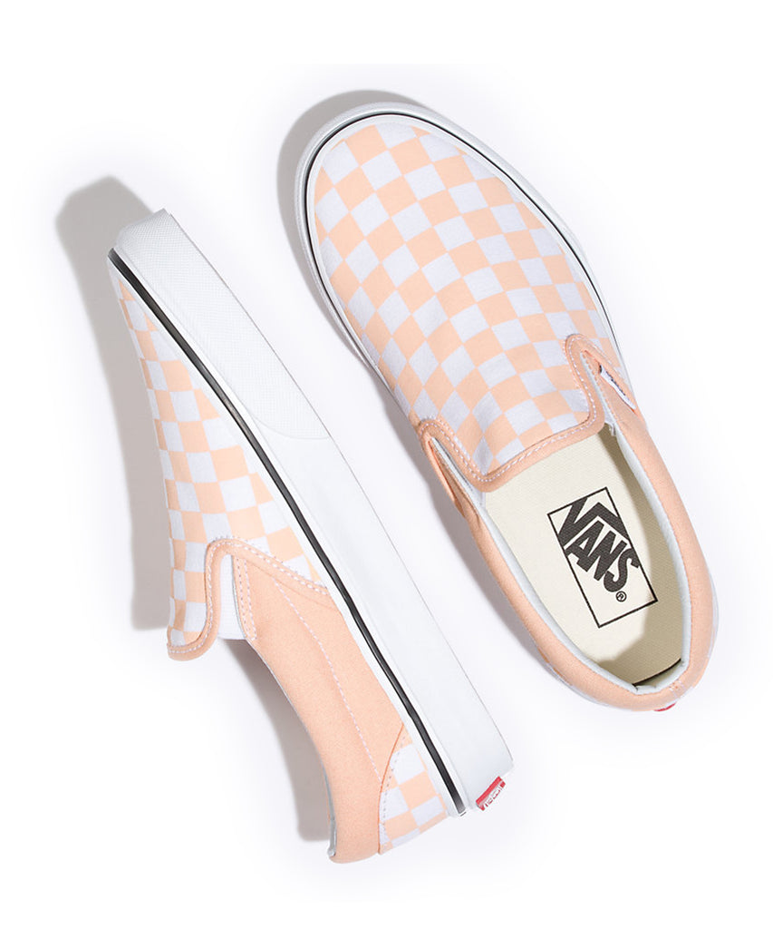 9842c2e198e Vans Classic Checkerboard Slip-On In Bleached Apricot