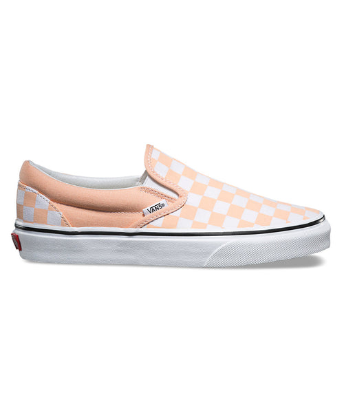 Vans Classic Checkerboard Slip-On In Bleached Apricot