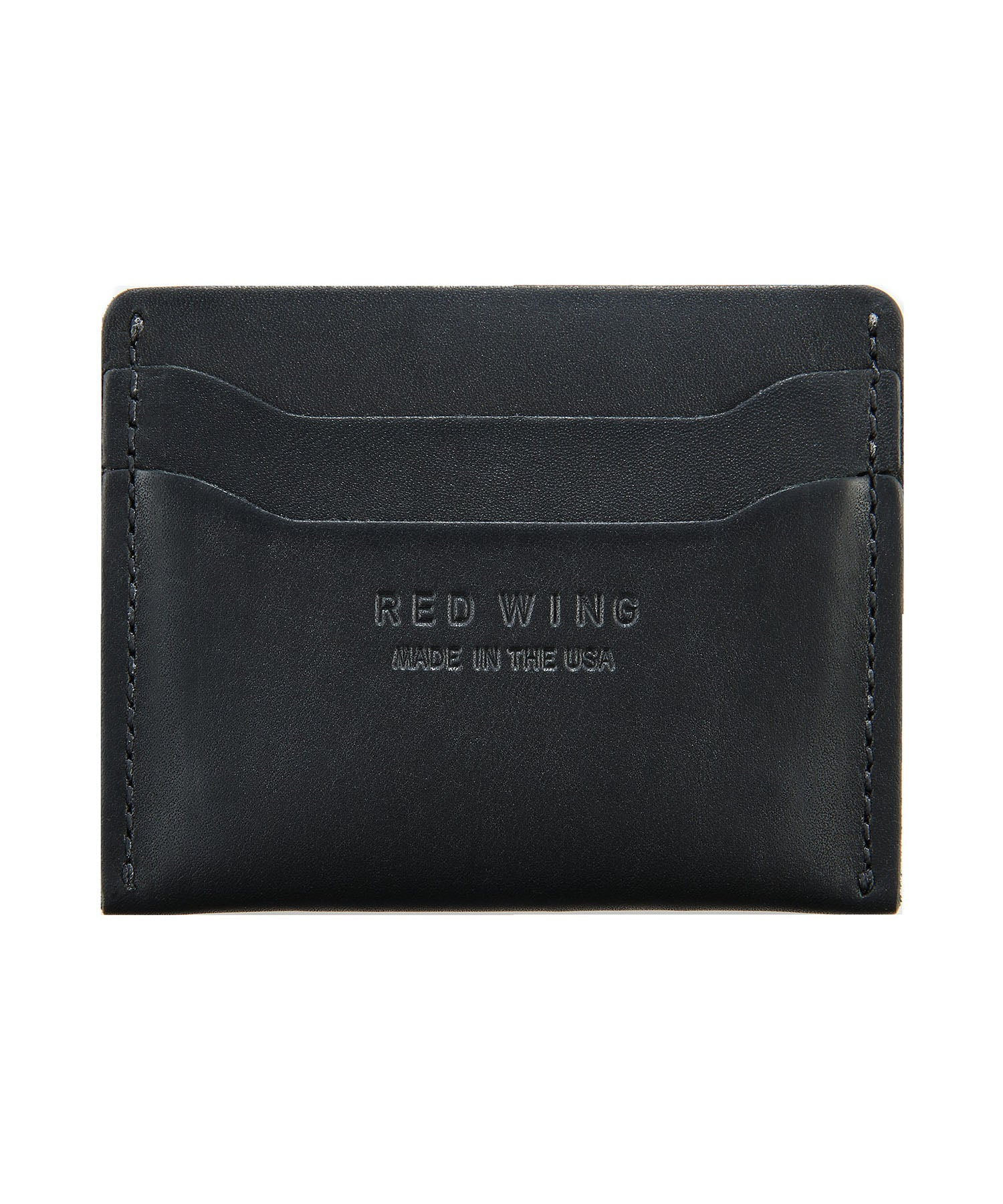 Red Wing Leather Card Colder in Black