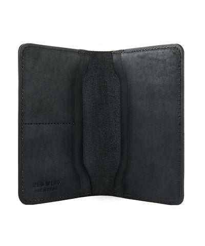Red Wing Leather Passport Wallet in Black