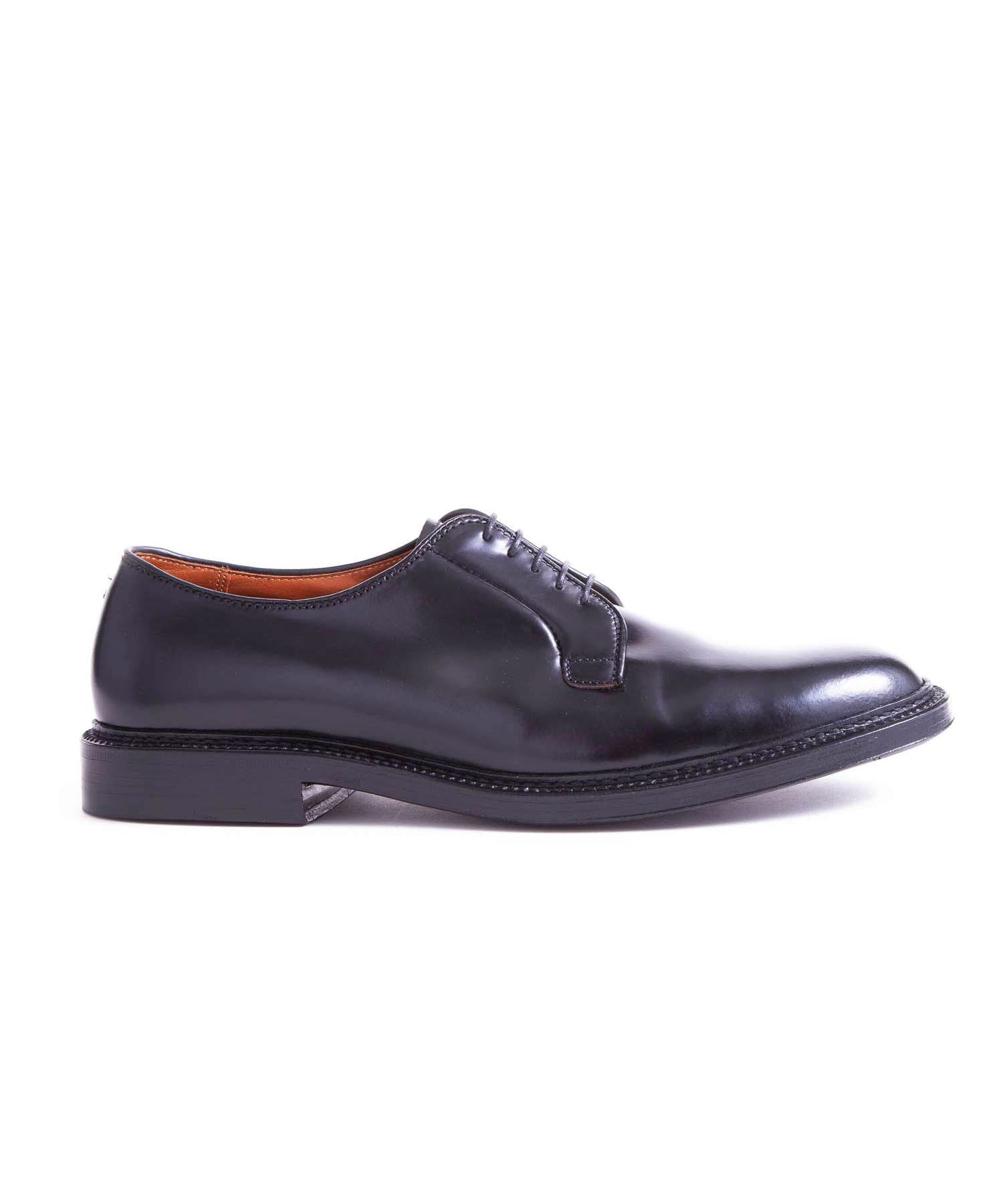 Alden Cordovan Plain Toe Blucher In Black