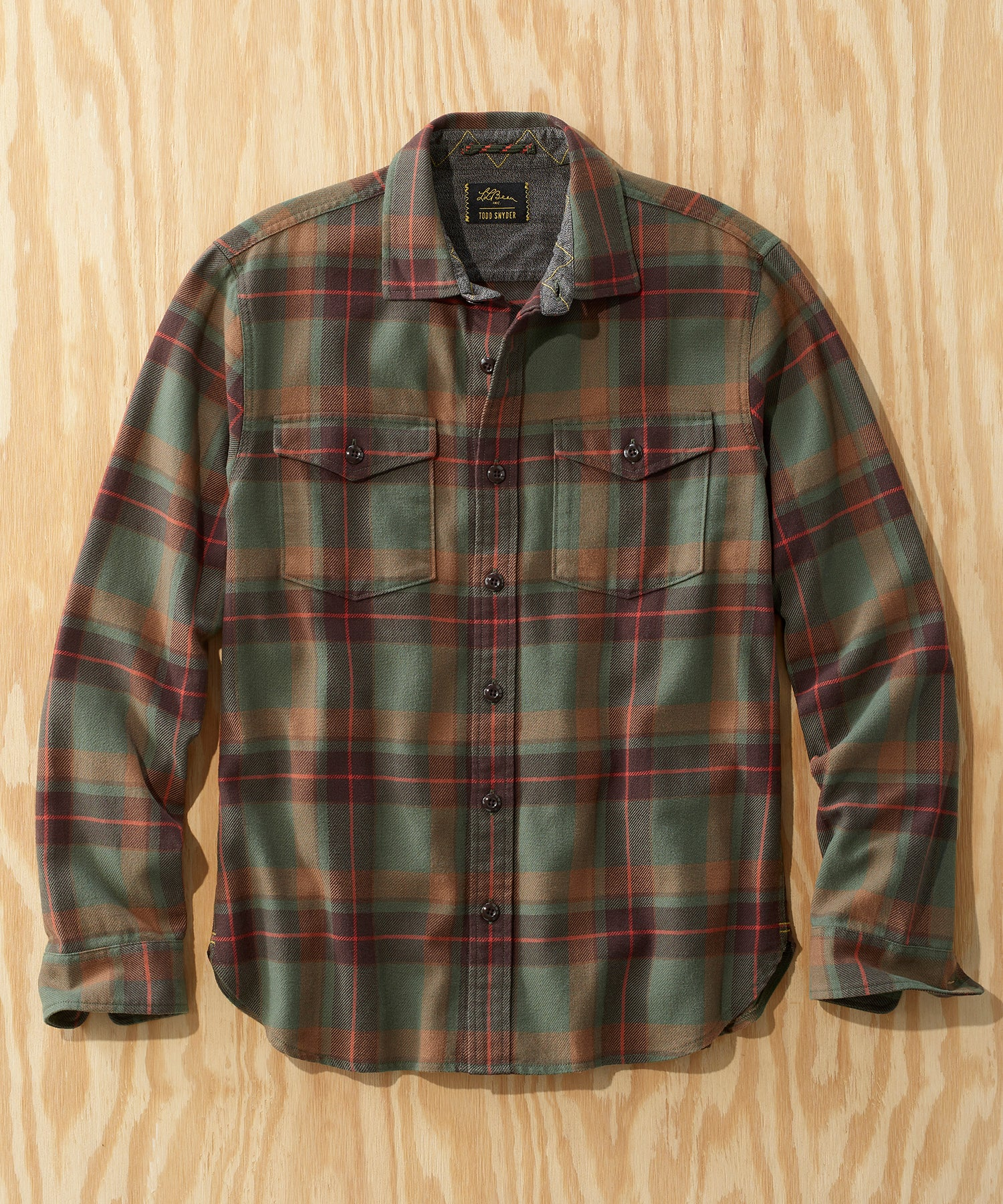L.L.Bean x Todd Snyder Heavyweight Plaid Shirt in Sage