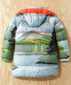 L.L.Bean x Todd Snyder Scenic Print Long Puffer Jacket in Multi