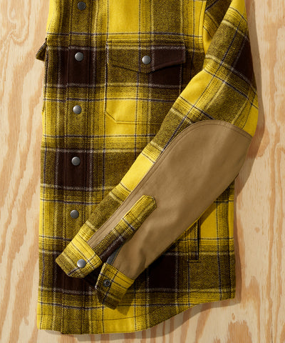 L.L.Bean x Todd Snyder Wool Blend Shirt Jacket in Yellow Plaid