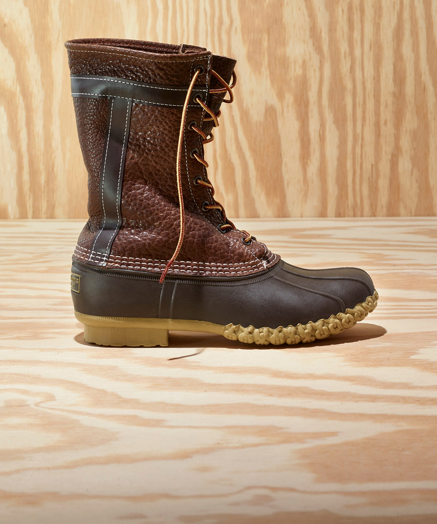 L.L.Bean x Todd Snyder Bean Boot in Chocolate Bison Leather