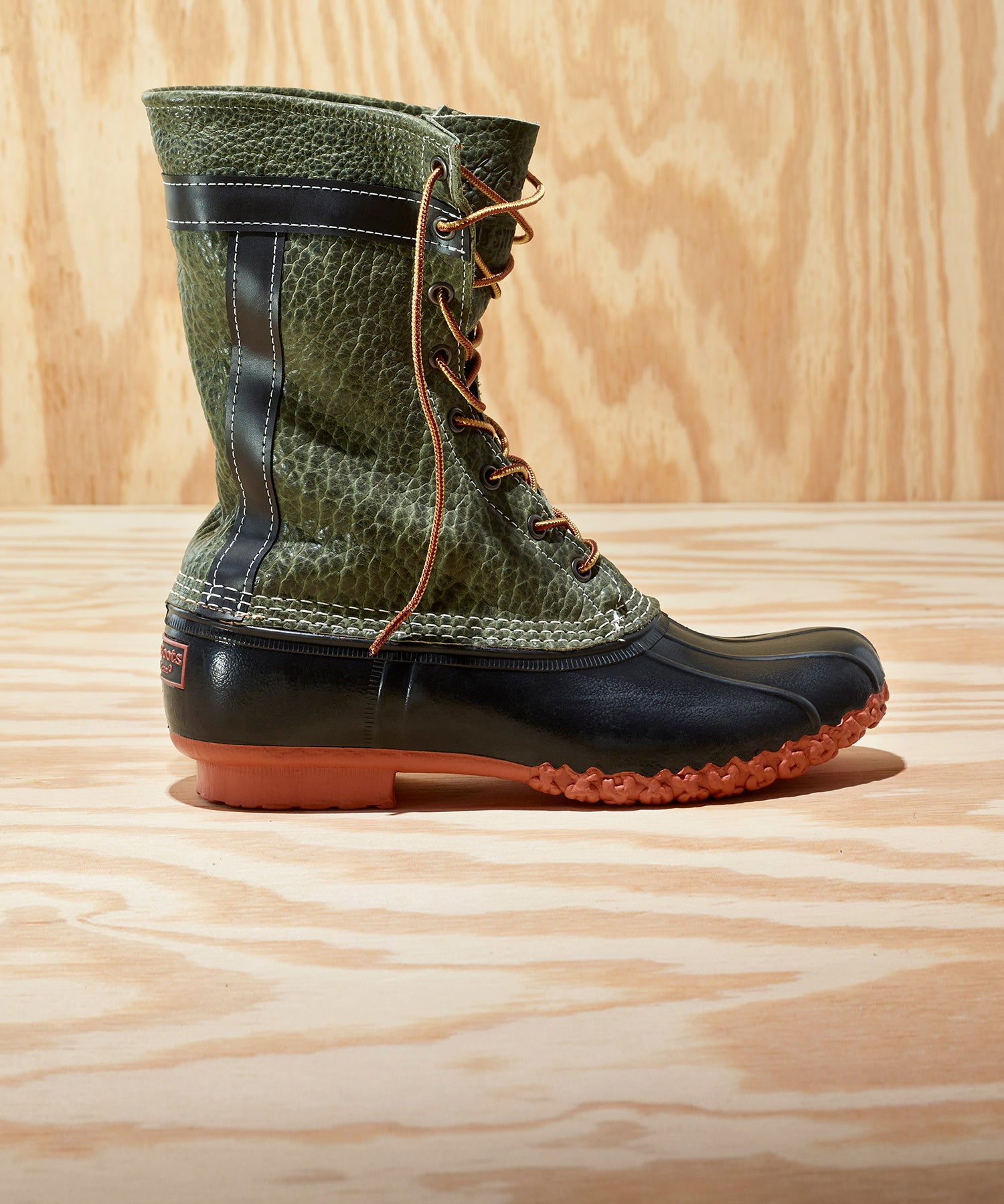 L.L.Bean x Todd Snyder Bean Boot in Olive Bison Leather