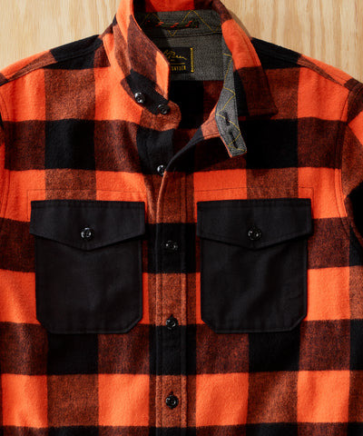 L.L.Bean x Todd Snyder Chamois Shirt with Trim in Dark Terracotta Plaid