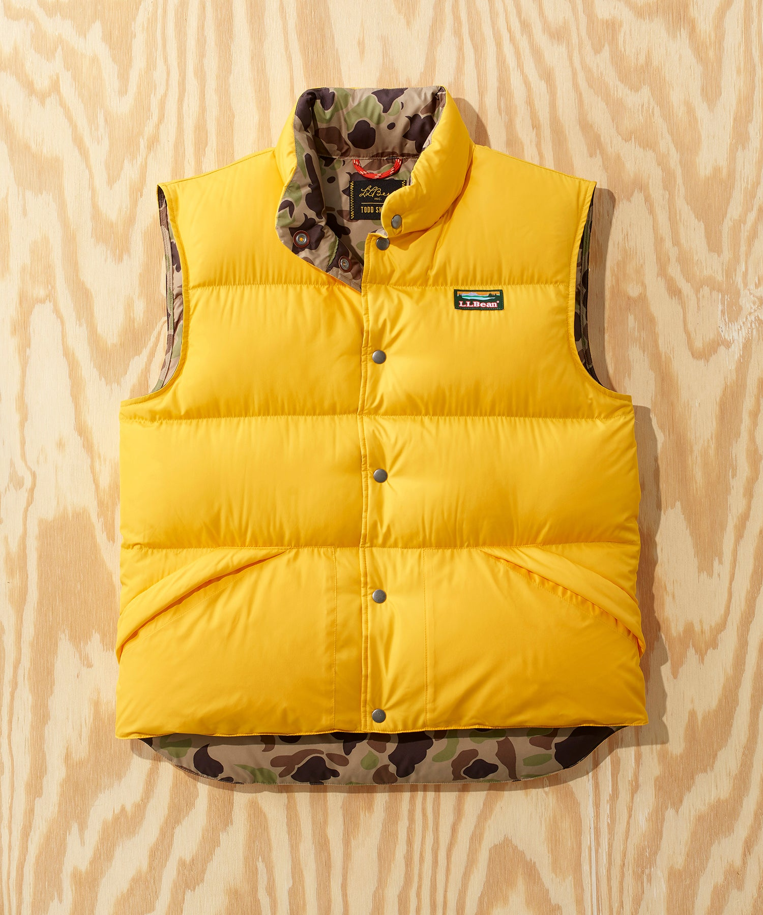 L.L.Bean x Todd Snyder Puffer Vest in Yellow