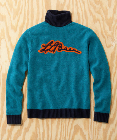 L.L.Bean x Todd Snyder Script Sweater in Blue