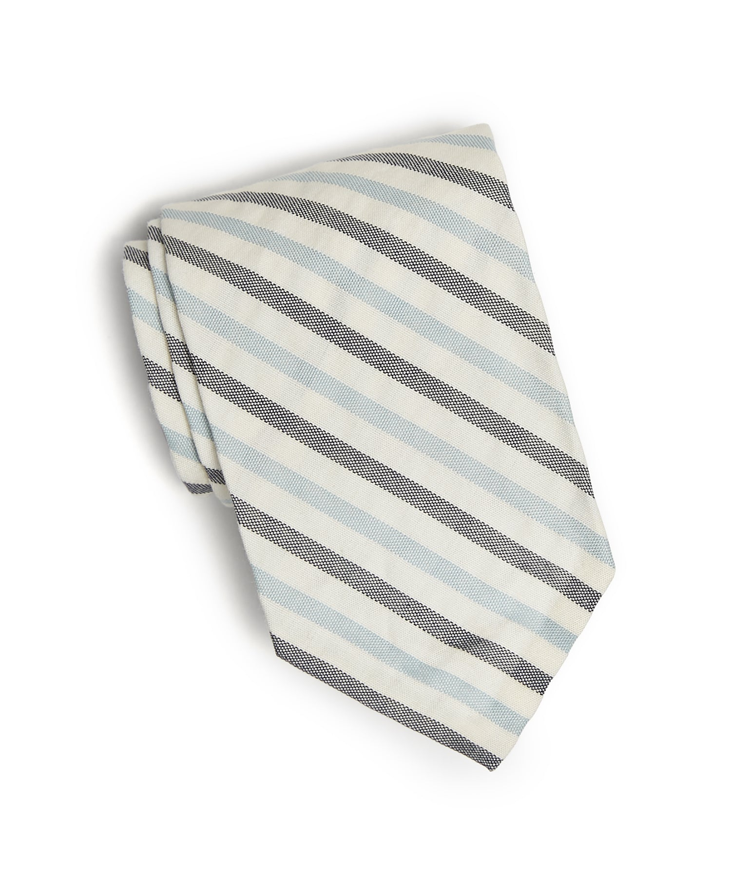 Cotton Double Stripe Seersucker Tie