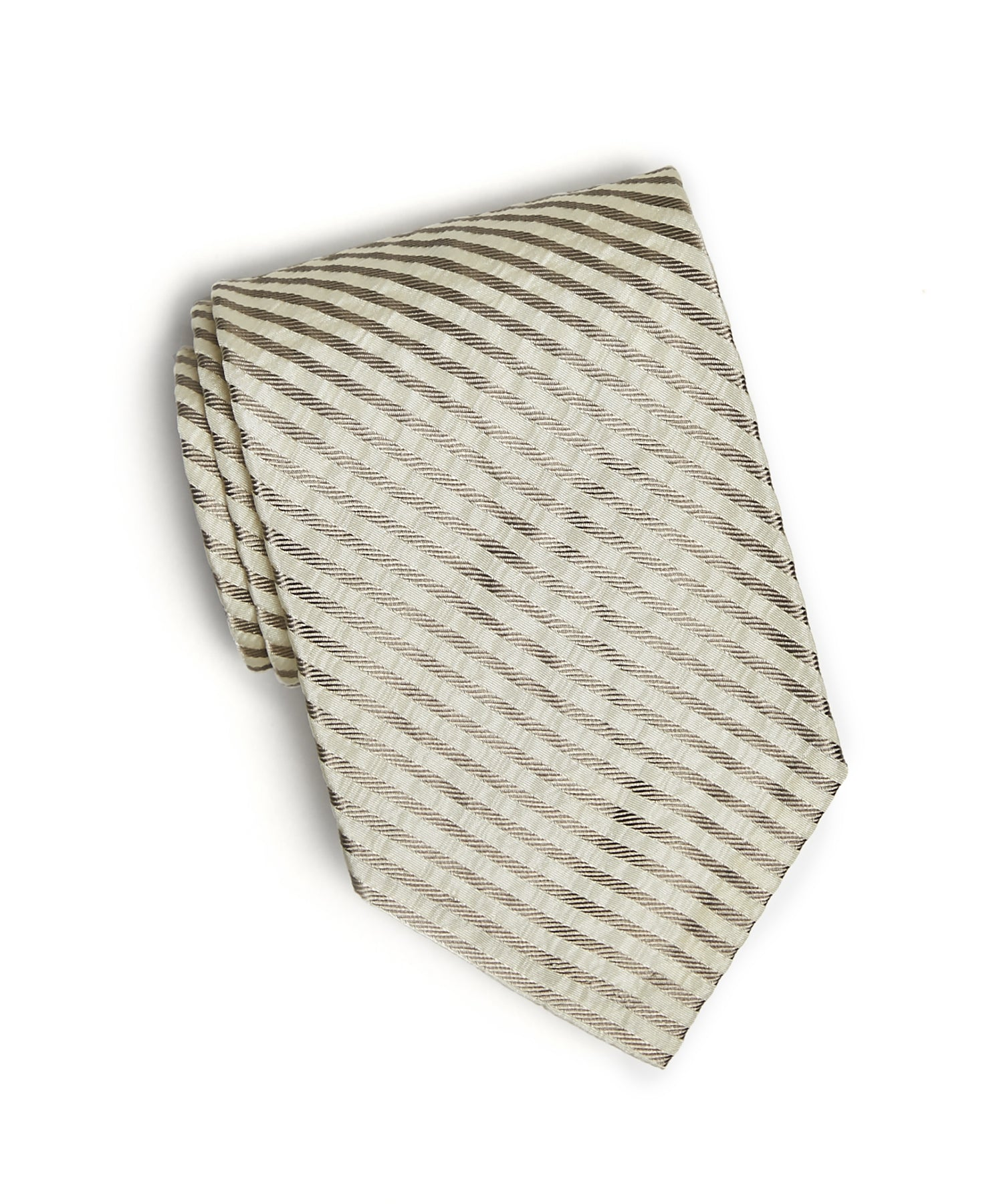 Grey Silk Seersucker Tie