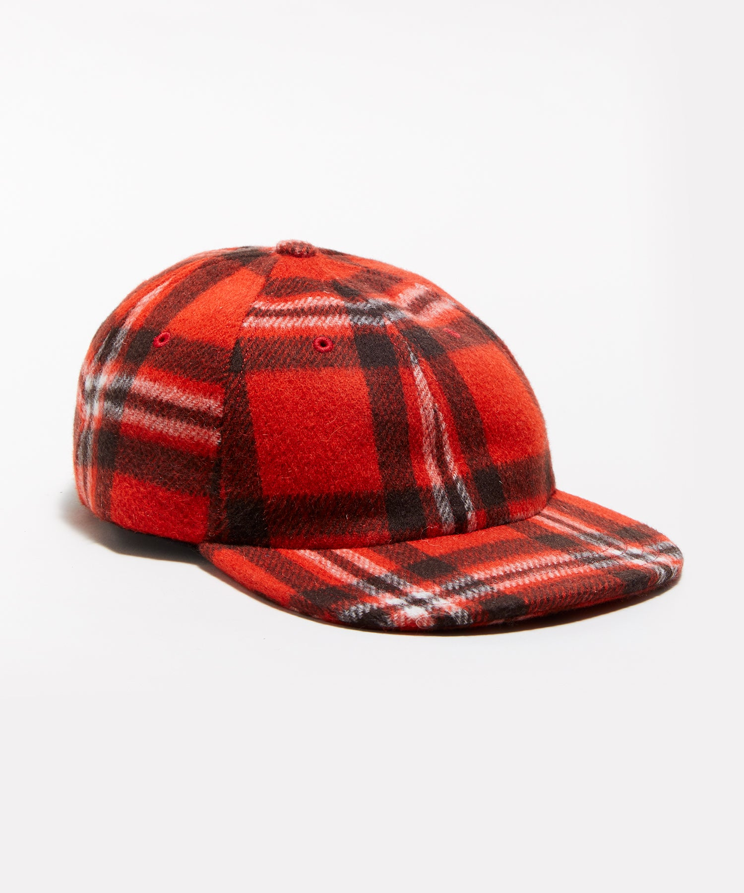 Wool Plaid Hat in Orange