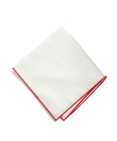 Italian Linen Tipped Pocket Square