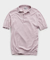 John Smedley Adrian Sea Island Cotton Polo Sweater in Pink Dawn