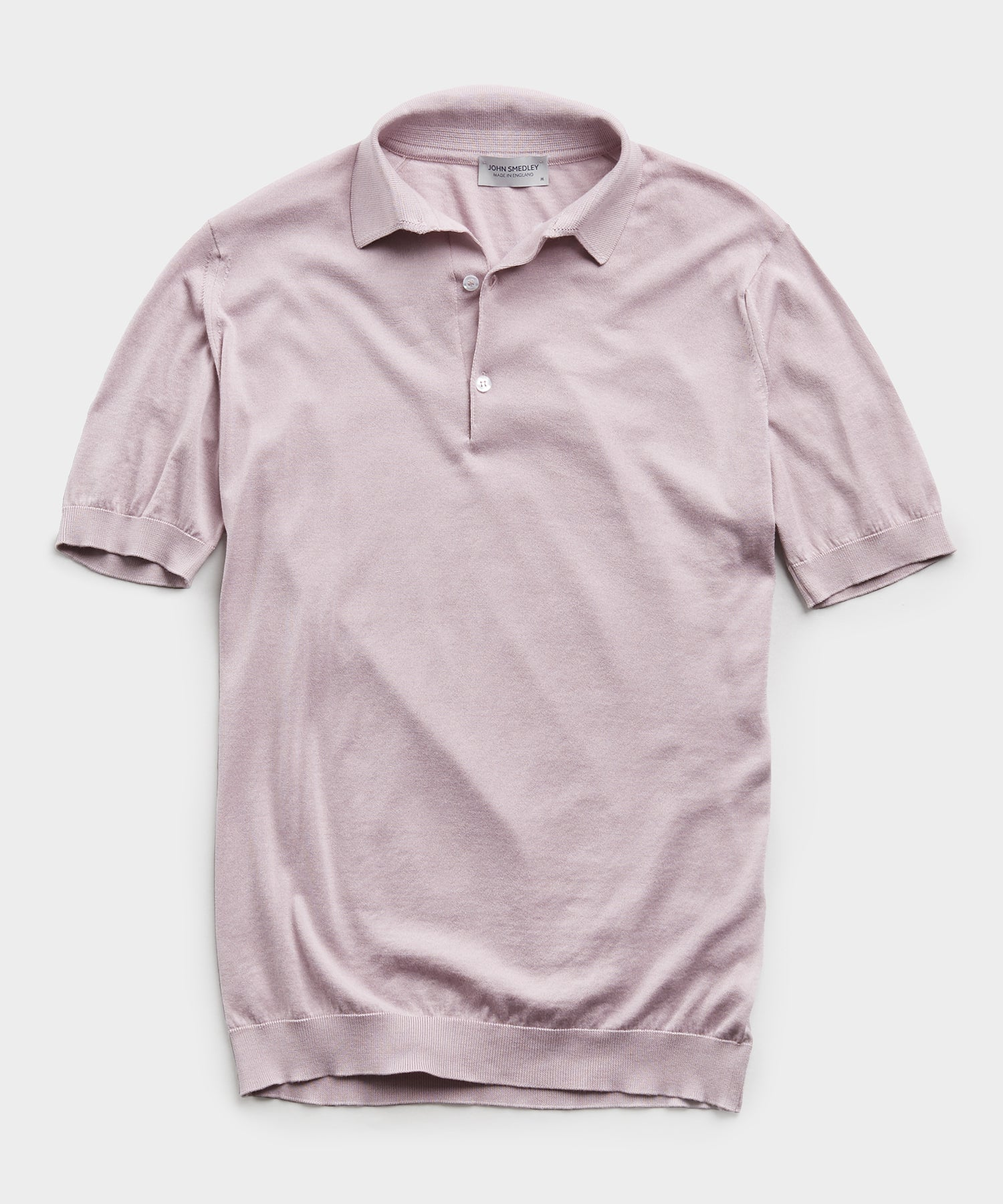 John Smedley Adrian Sea Island Cotton Polo in Pink Dawn