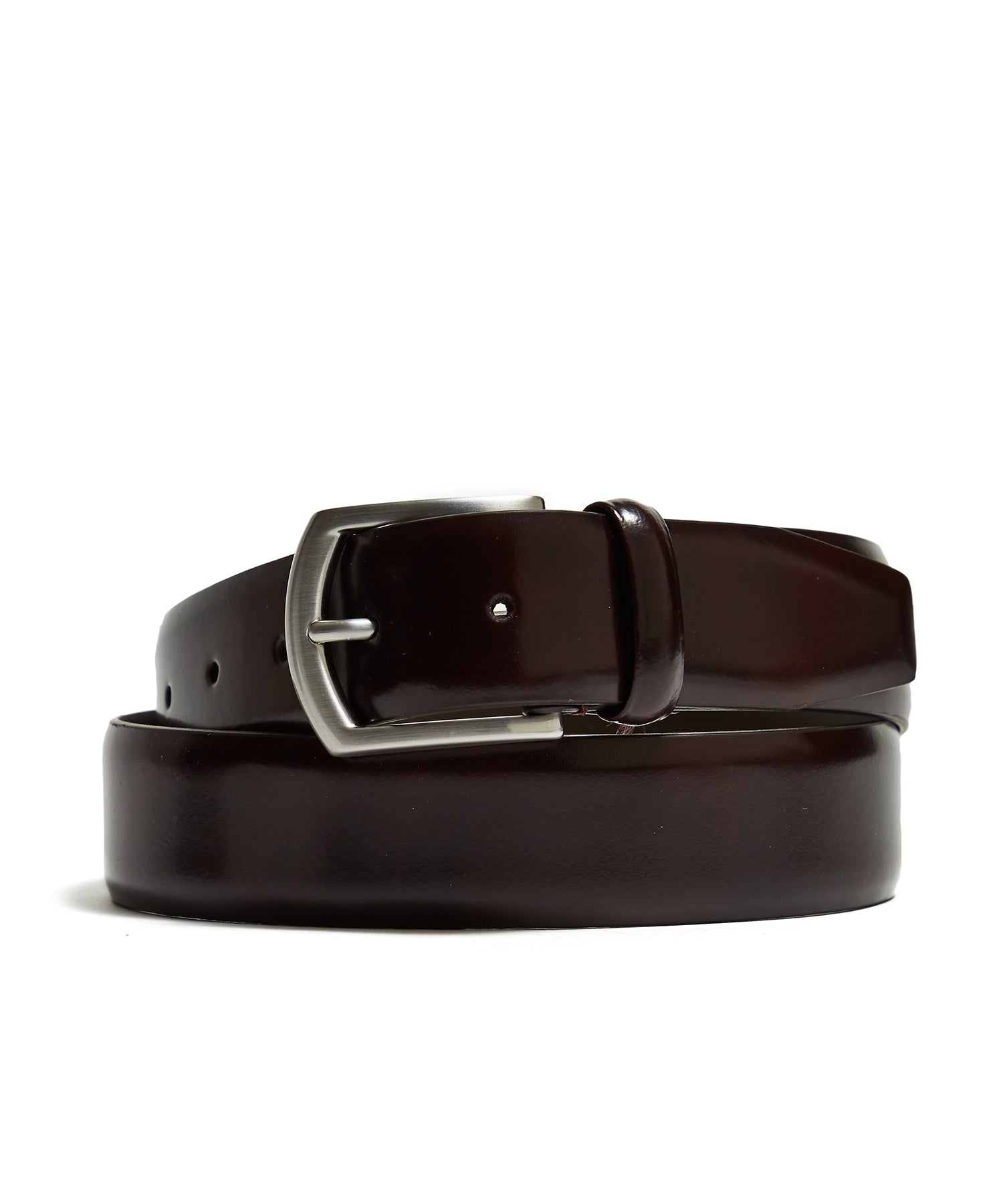 Andersons Dress Leather Belt in Burgundy