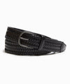 Anderson's Braided Leather Stretch Belt in Black