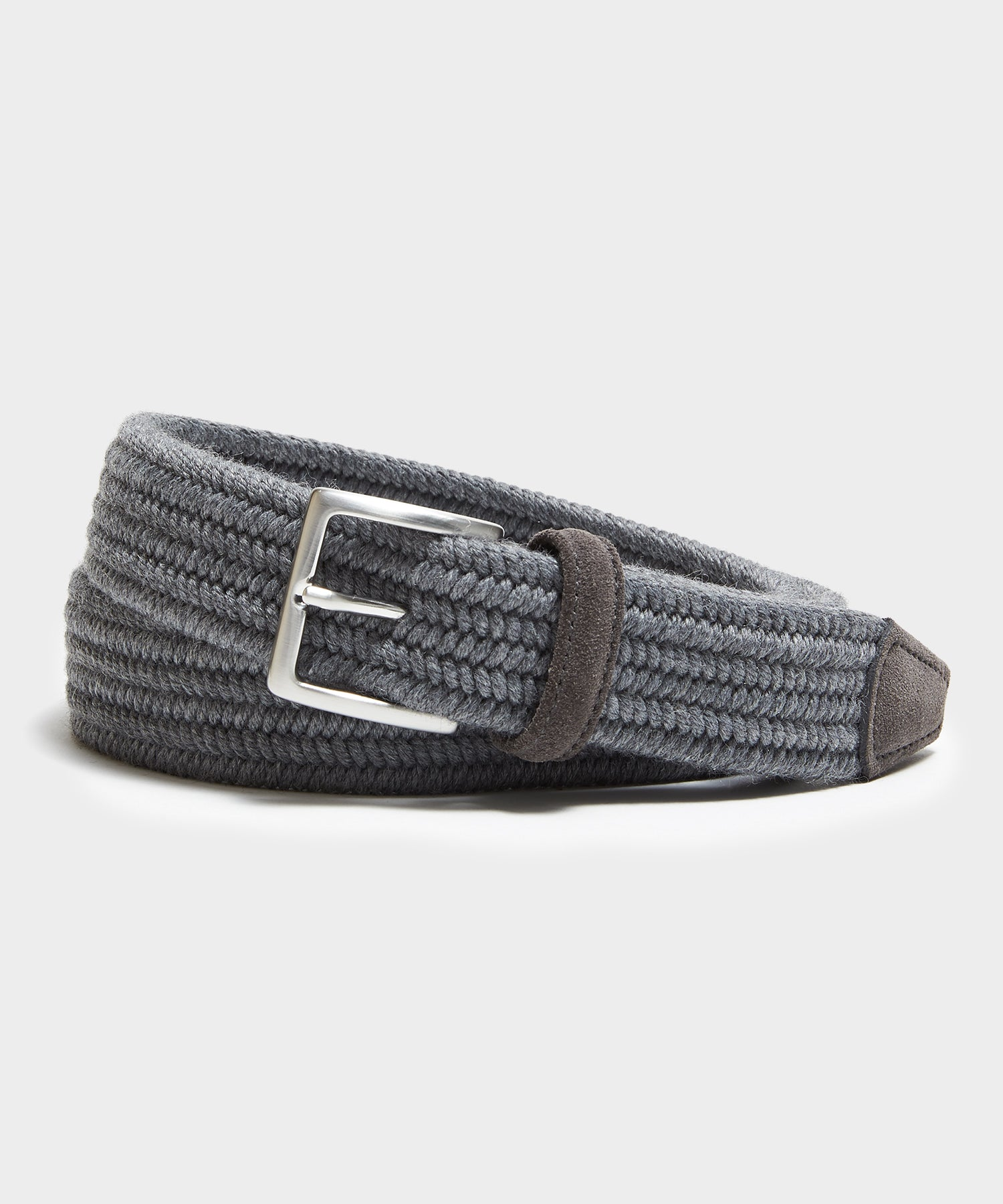 Anderson's Cashmere Stretch Woven Belt in Grey