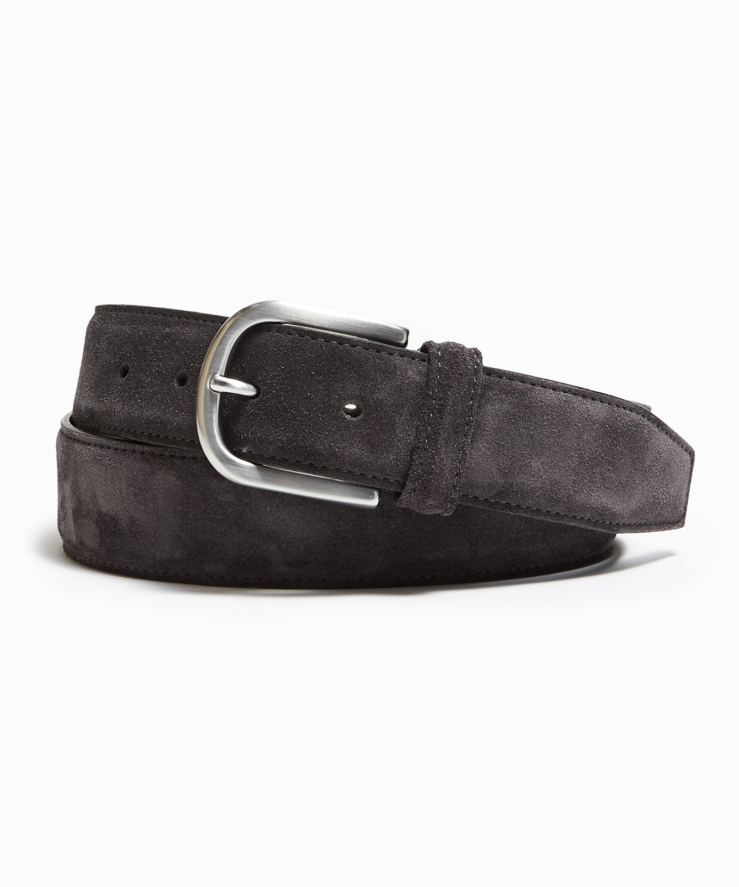 Anderson's Suede Belt in Charcoal